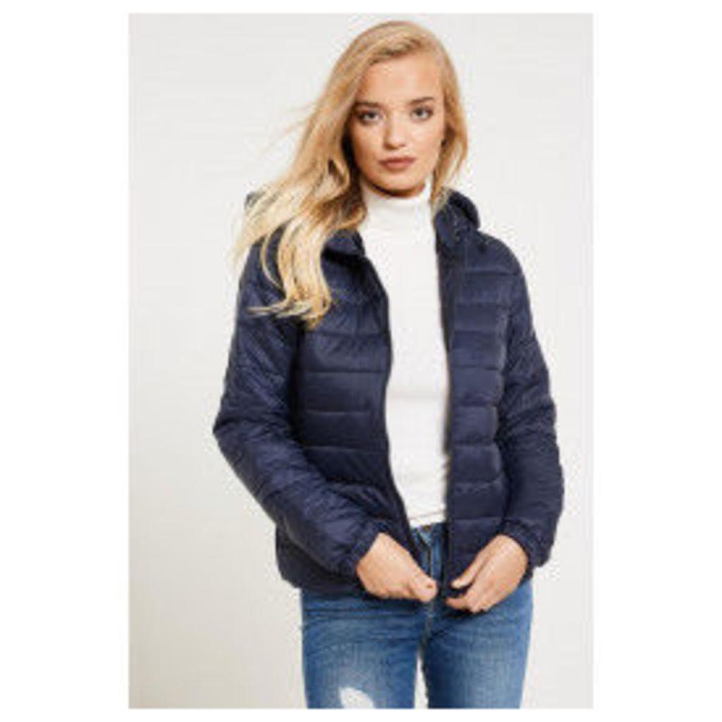 Jacqueline de Yong Mash Nylon Quilted Jacket - Blue
