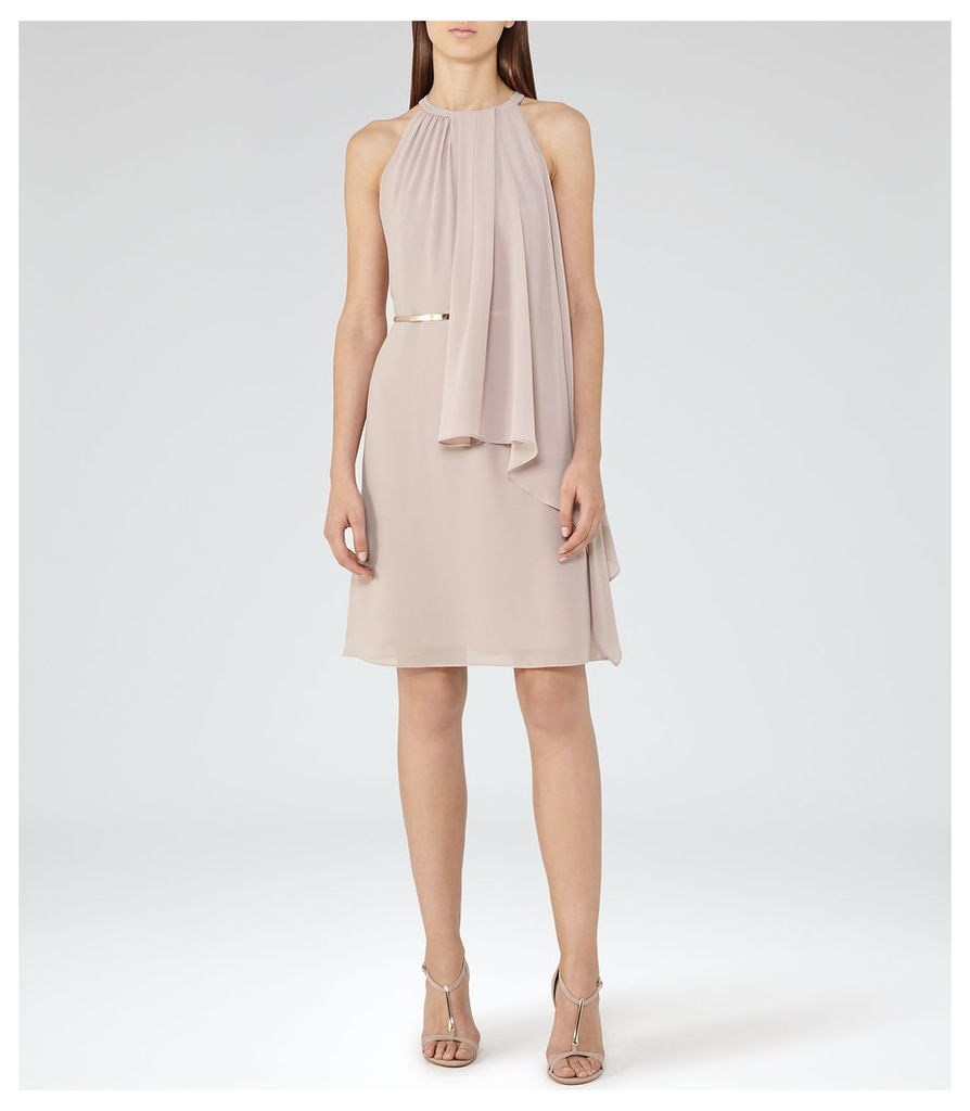 REISS Carina - Womens Tiered Dress in Red