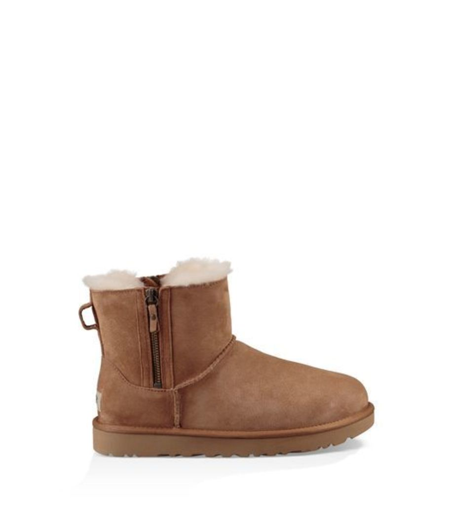 UGG Classic Mini Double Zip Womens Classic Boots Chestnut 6