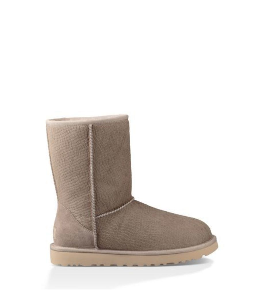 UGG Classic Short Calf Hair Scales Womens Classic Boots Oyster 4