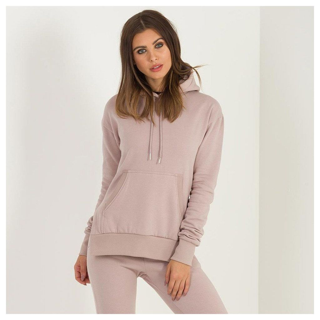 Maniere De Voir; MDV Essential Split Side Hoodie - Blush Nude