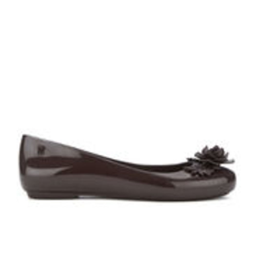 Alexandre Herchcovitch for Melissa Women's Space Love Flower Ballet Flats - Plum - UK 4