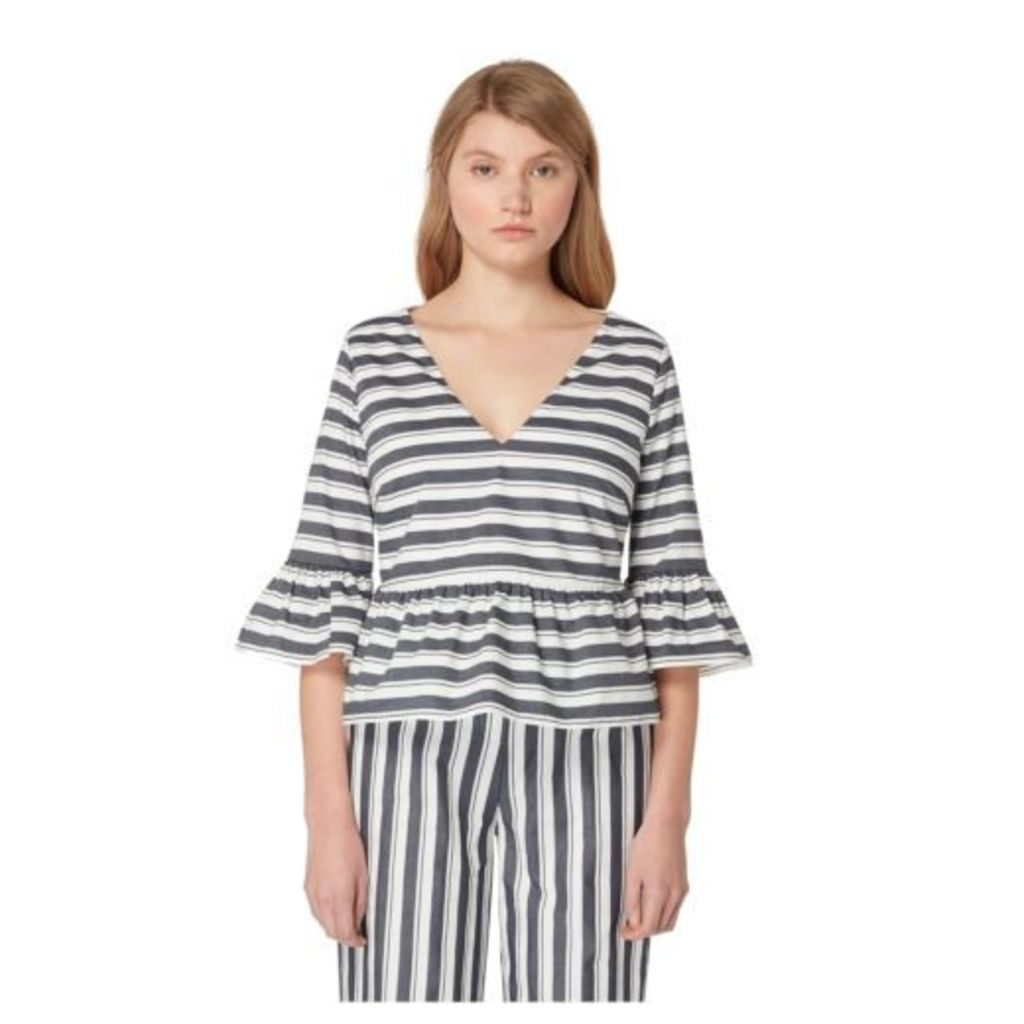 Studio By Preen Womens Blue Striped Print Crop Top From Debenhams 8