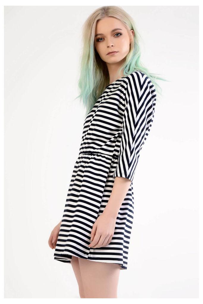 Navy And White Stripe Mini Dress