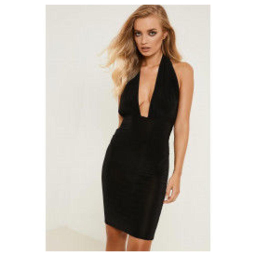 Brand Attic Halter Neck Slinky Dress - Black