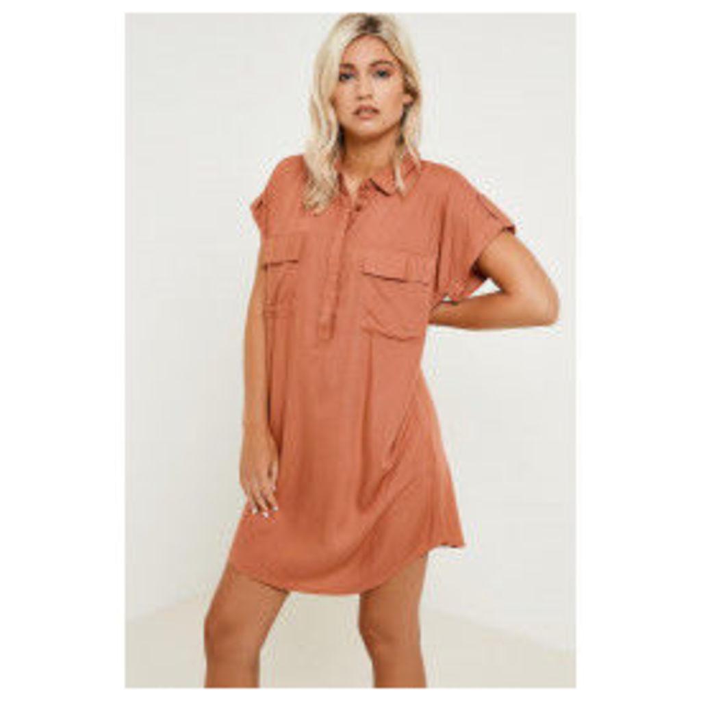 Vila Roman Tunic Shirt - Orange