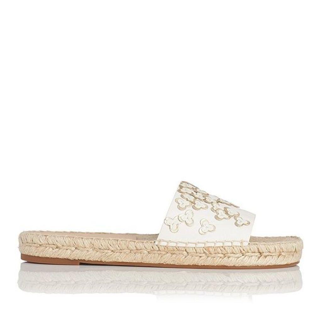 Louna Multi Nappa Leather Flat Sandals
