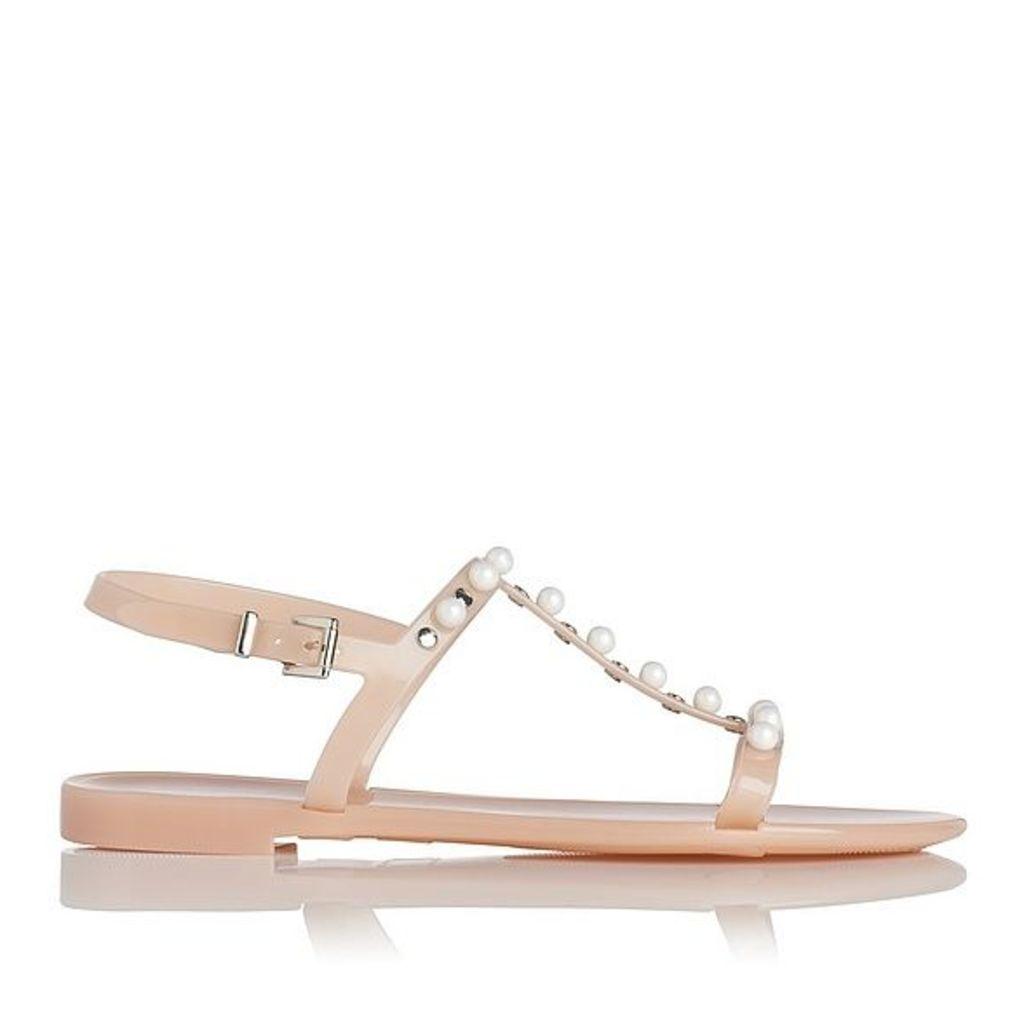 Freja Pink Flat Sandals