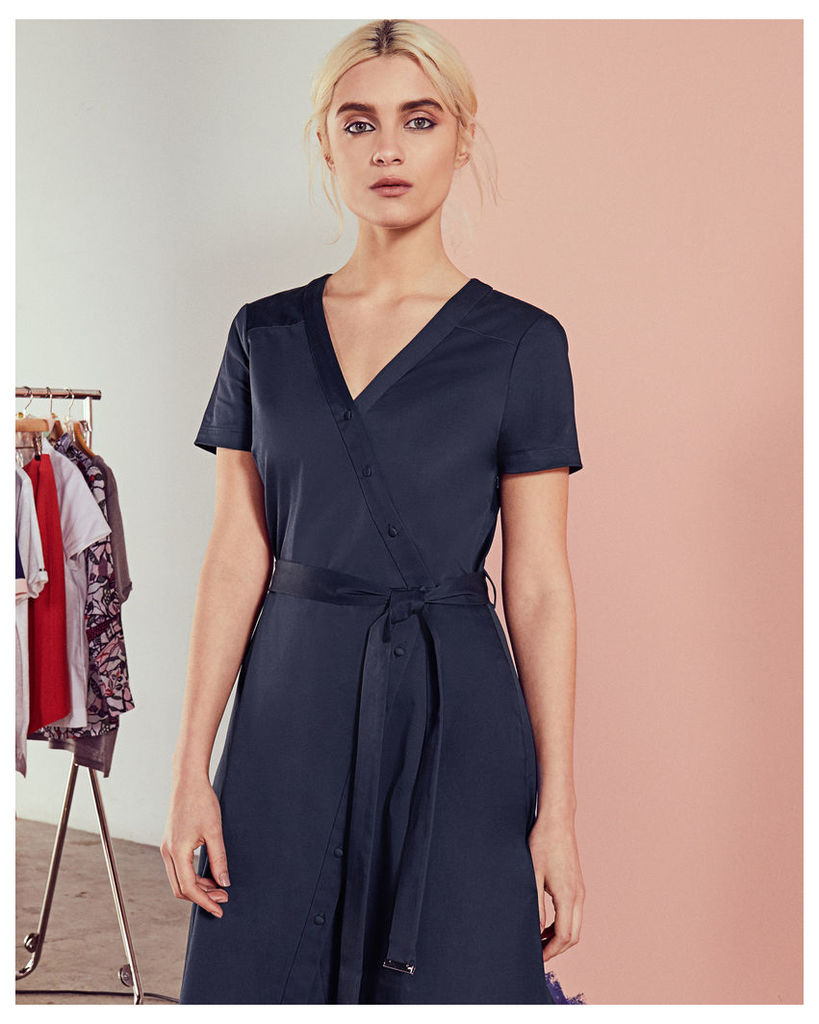 Ted Baker Crossover cotton dress Navy