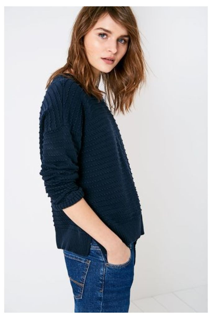 ALCENDALES TEXTURED JUMPER NAVY