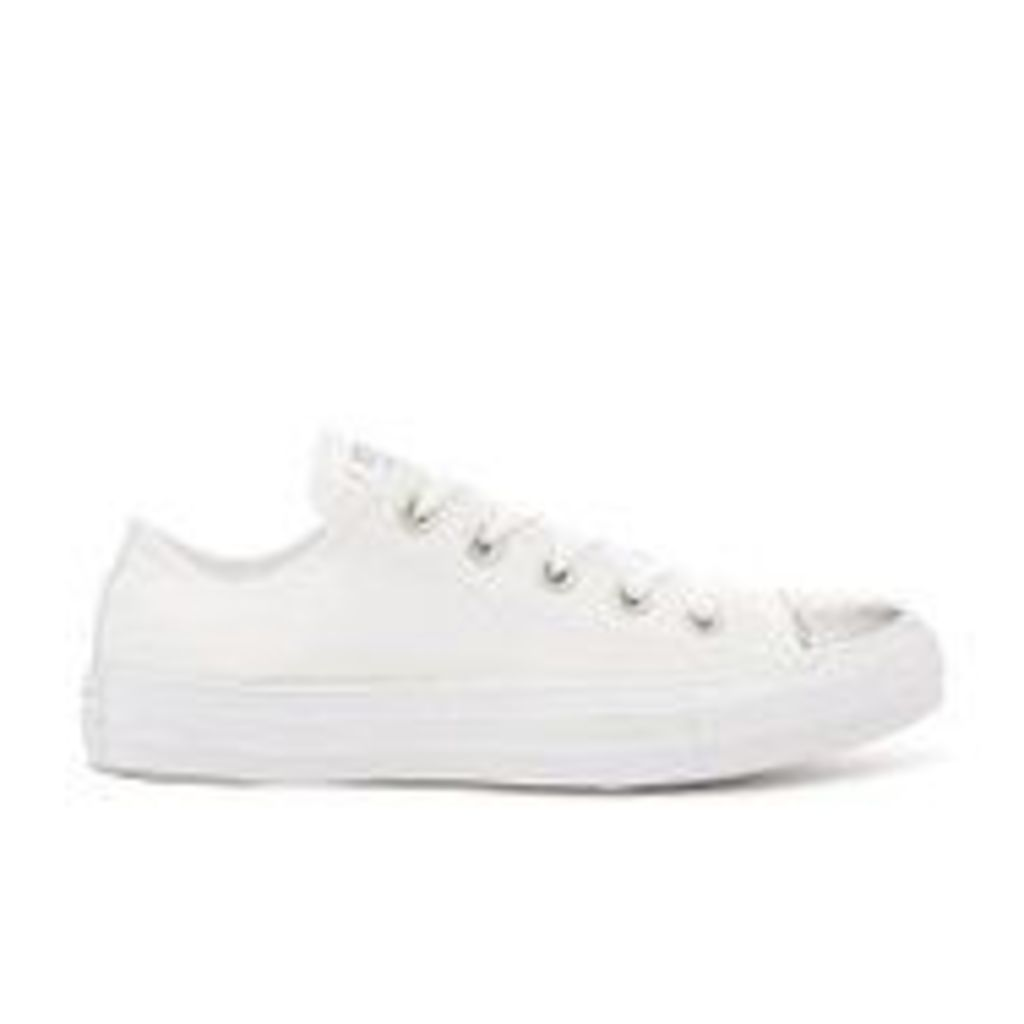 Converse Women's Chuck Taylor All Star Ox Trainers - White/Silver - UK 7