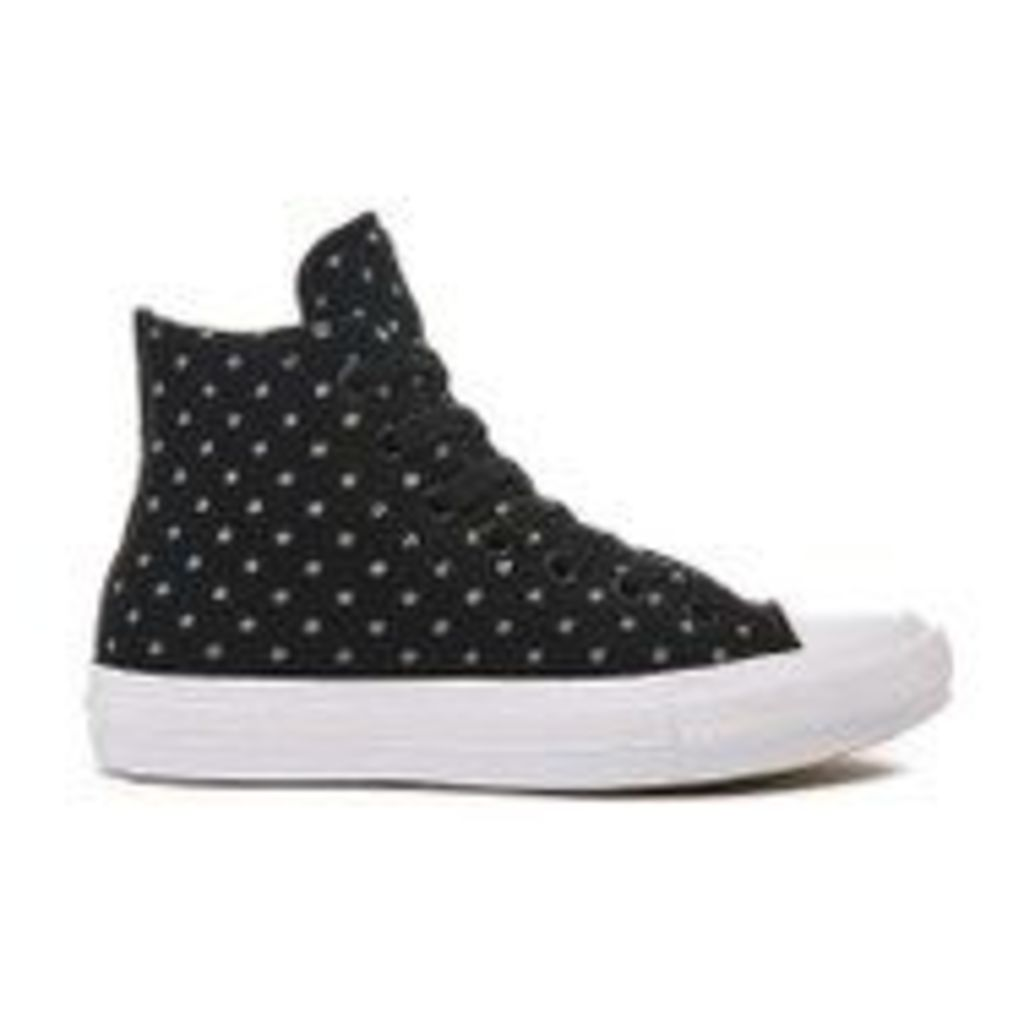 Converse Women's Chuck Taylor All Star II Hi-Top Trainers - Black/Dolphin/White - UK 4