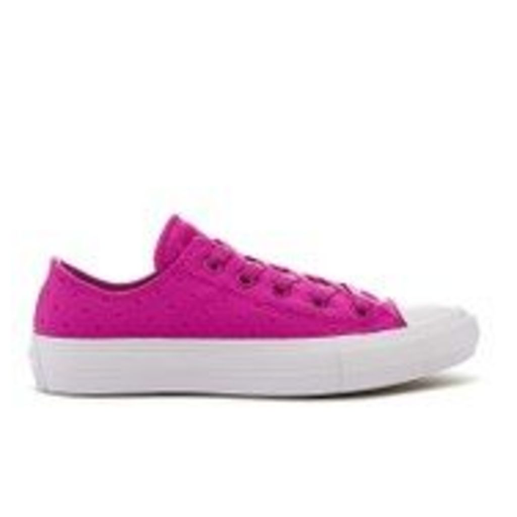 Converse Women's Chuck Taylor All Star II Ox Trainers - Magenta Glow/White - UK 6
