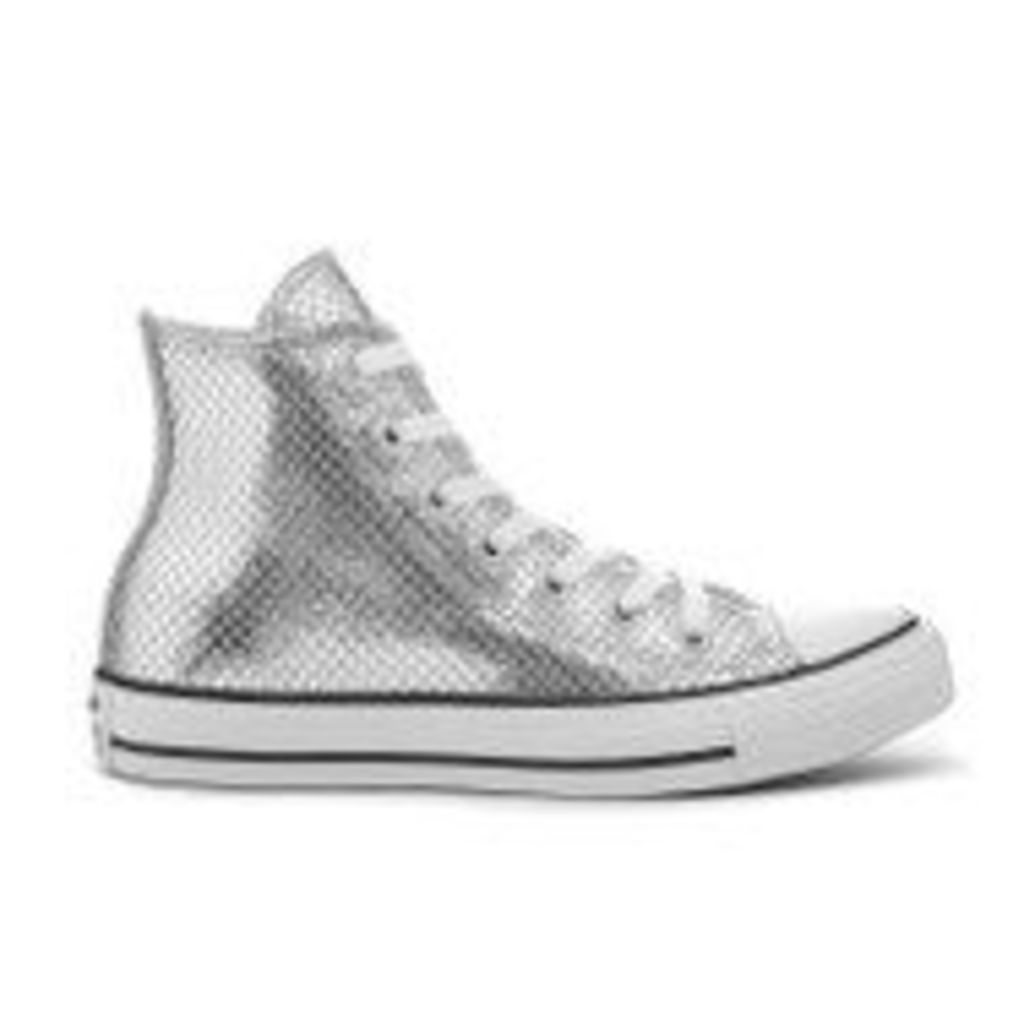 Converse Women's Chuck Taylor All Star Hi-Top Trainers - Silver/Black/White - UK 8