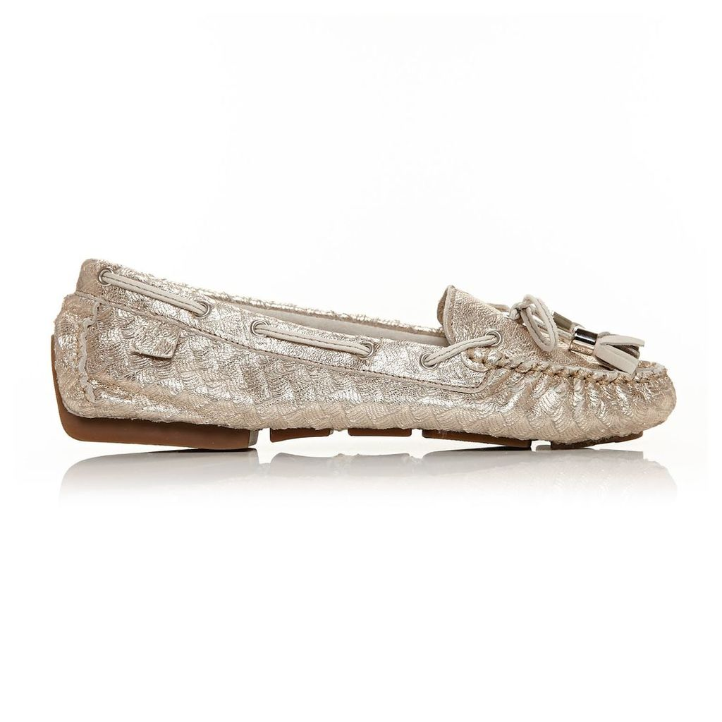 Moda in Pelle Alivia Metallic Flat Casual Shoes