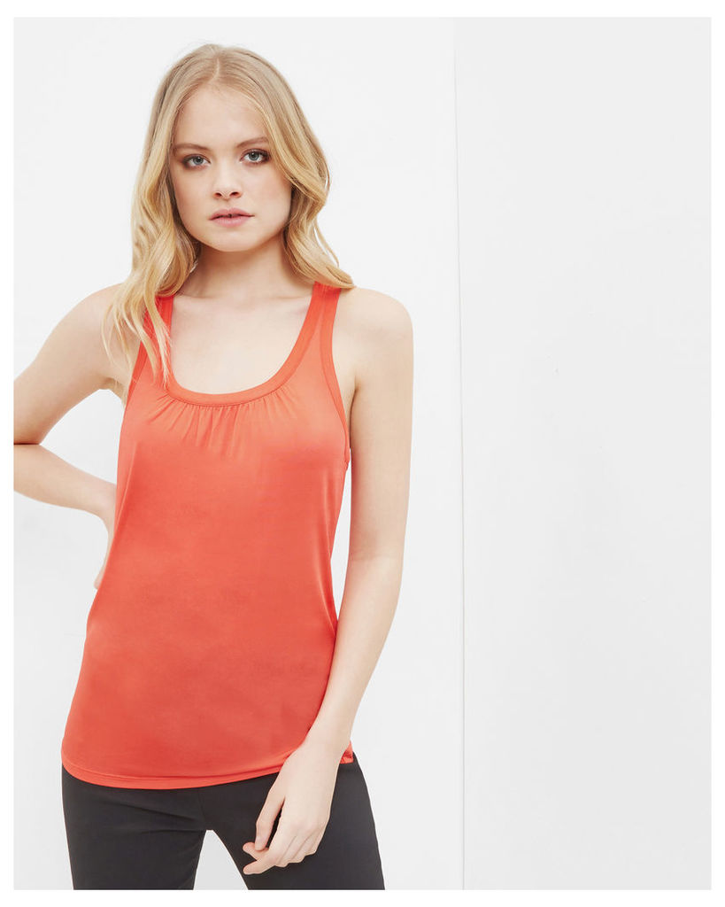 Ted Baker Pleated detail cami top Mid Red