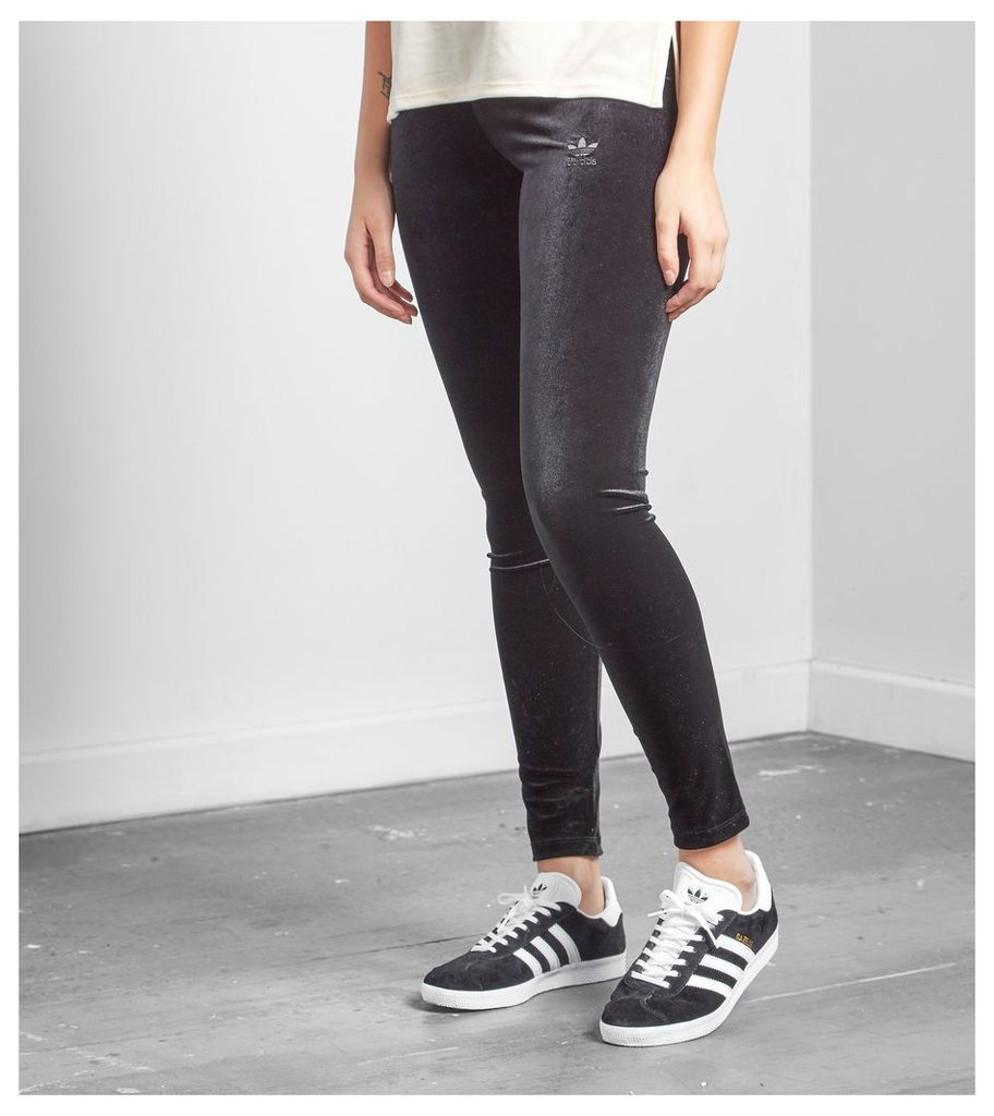 adidas Originals Trefoil Velvet Leggings, Black