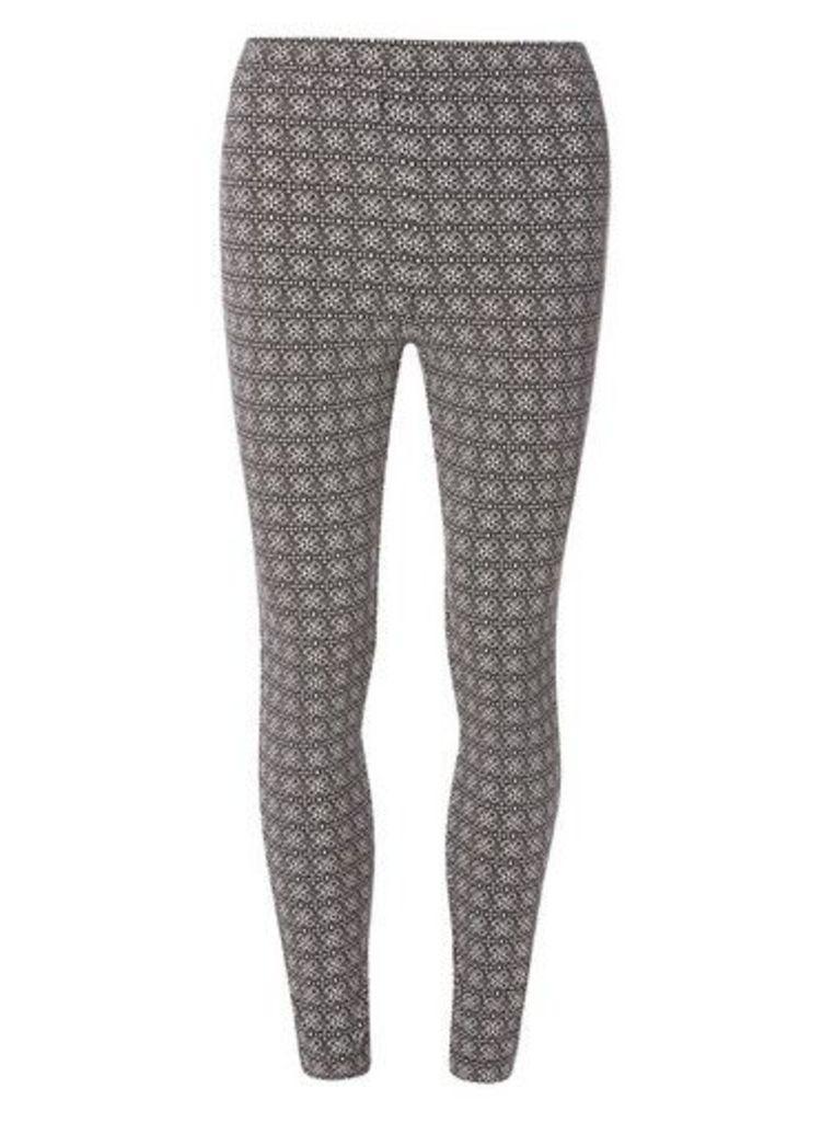 Womens **Tall Monochrome Capri Bengaline Trousers- Black