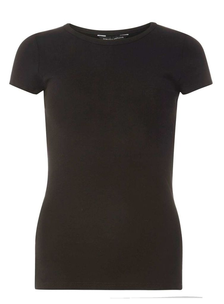Womens Black cotton tee- Black