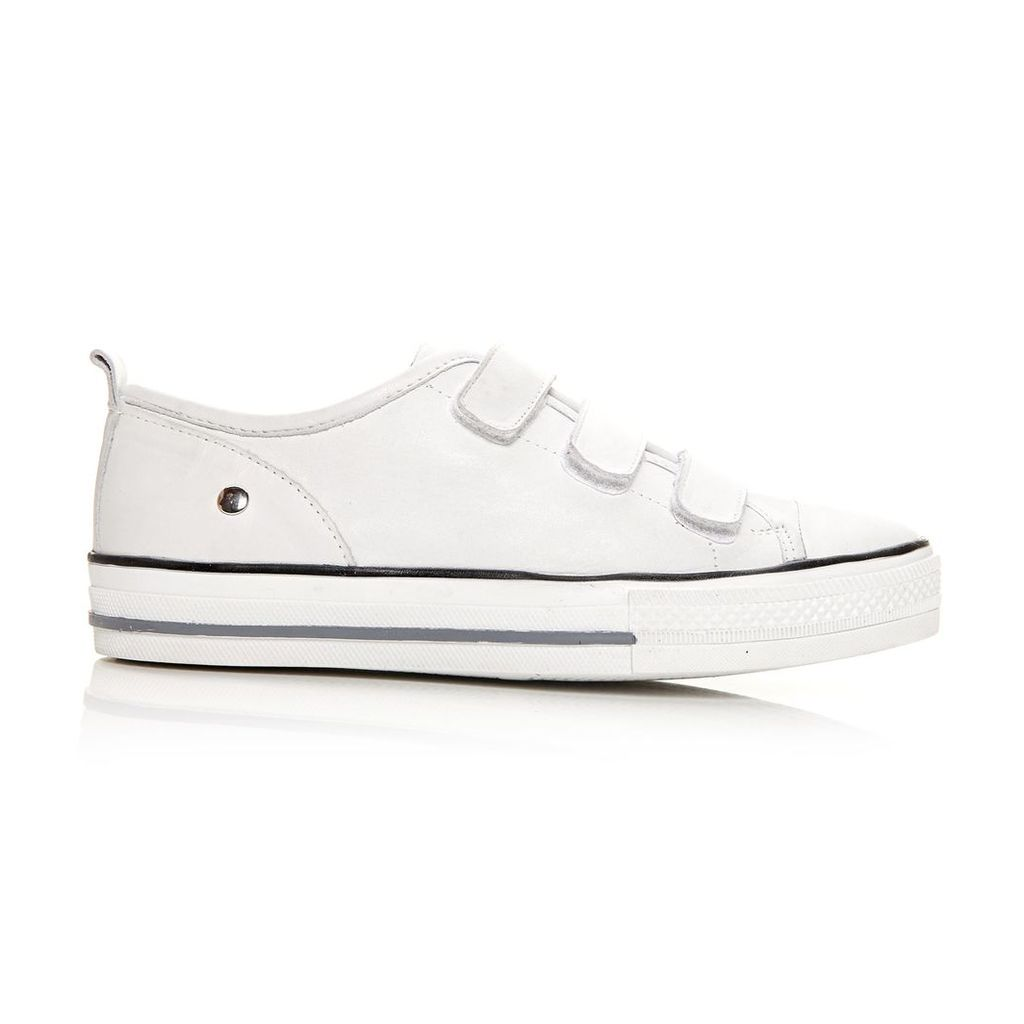 Moda in Pelle Adorie White Low Leisure Shoes