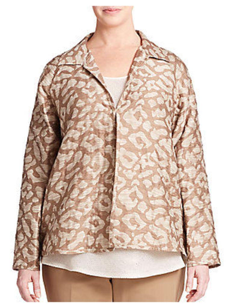 Embroidered Jacquard Jacket