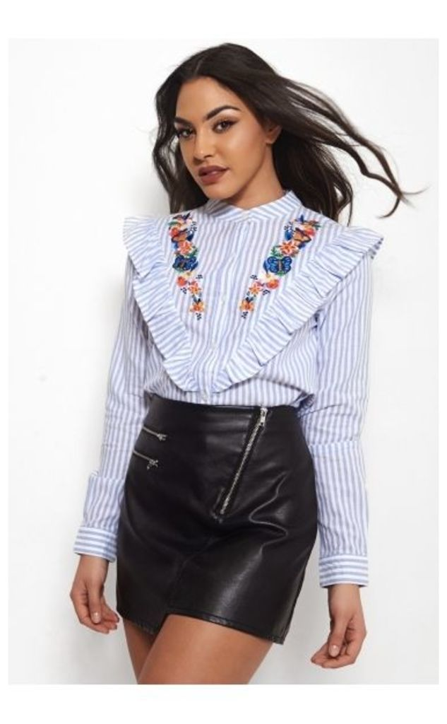 Sigma Embroidered Stripe Blouse