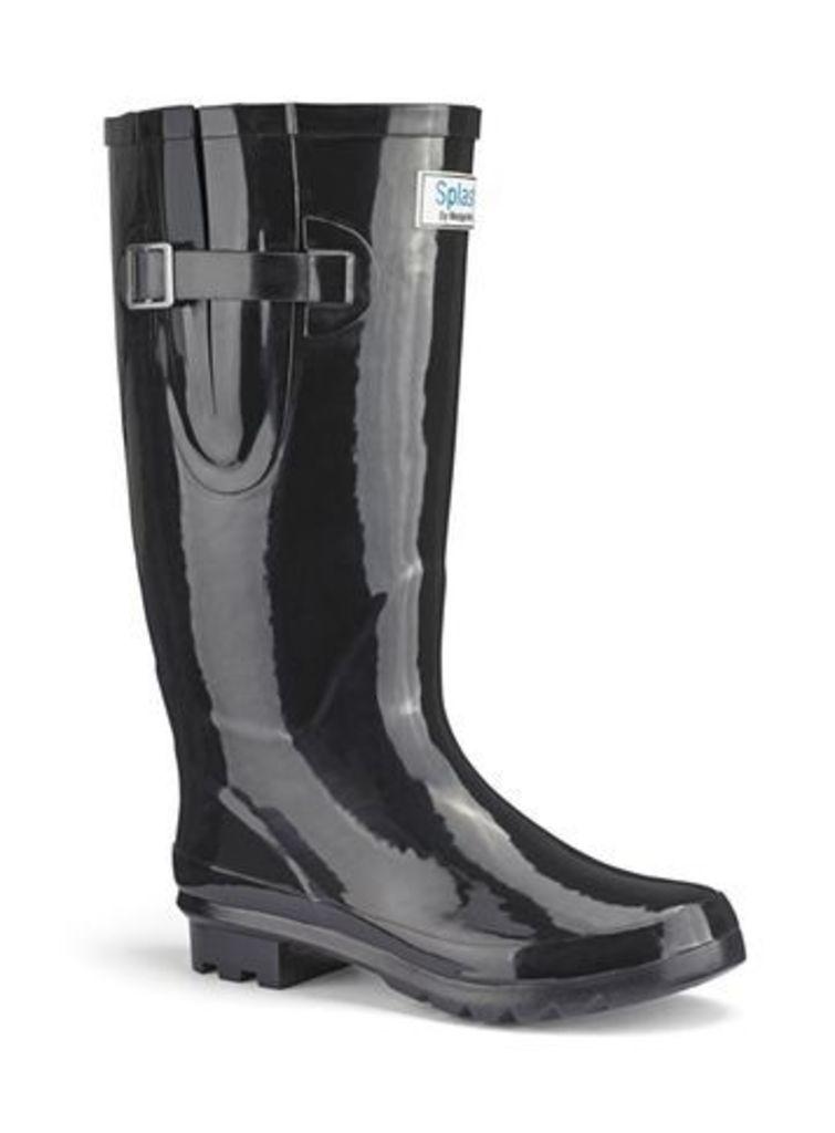 Splash Black Welly Boots, Black