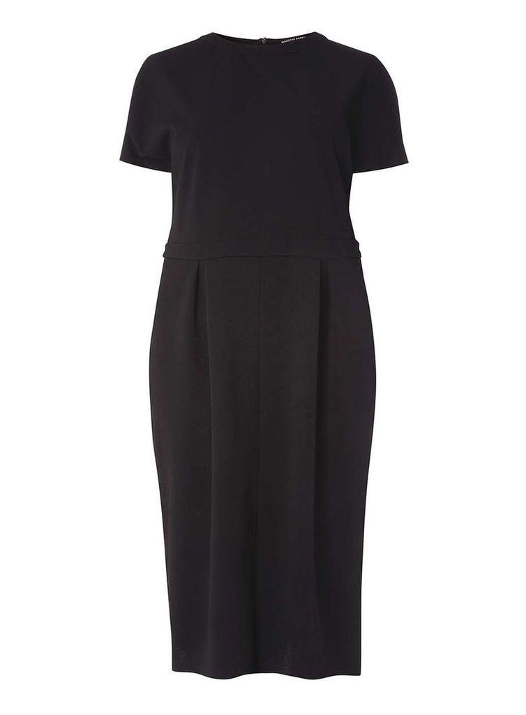 Womens DP Curve Plus Size Tulip Pencil Dress- Black