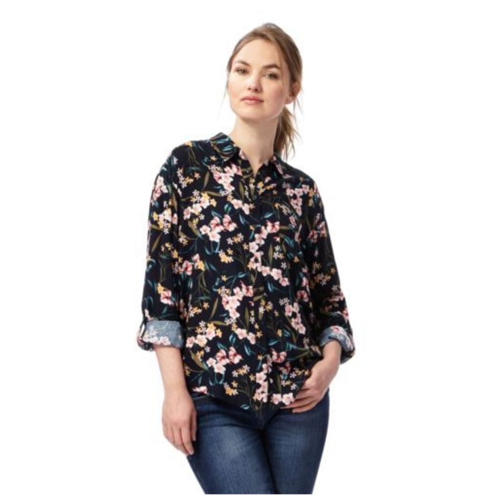 The Collection Womens Navy Floral Print Shirt From Debenhams 18