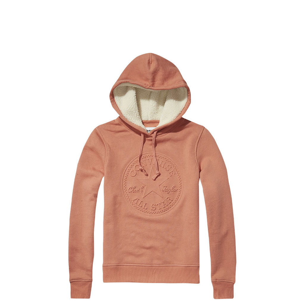 Women's Sherpa Lined Chuck Patch Popover Hoodie