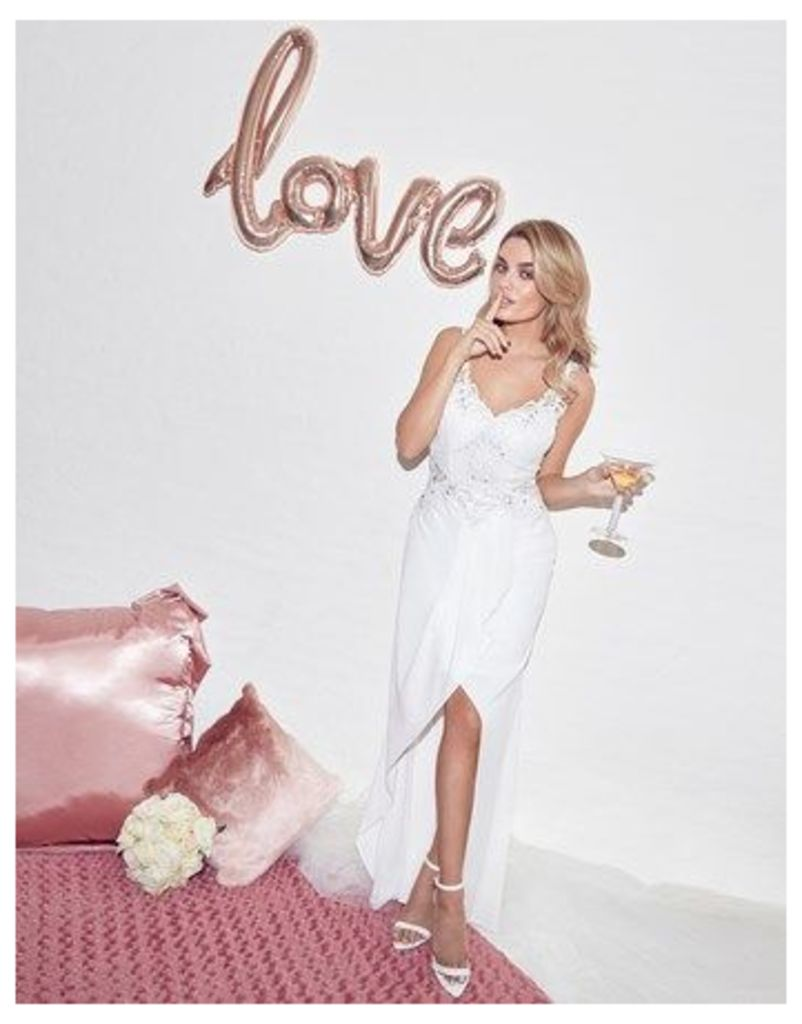 Lipsy Bridal Sophia Wrap Skirt Maxi Dress