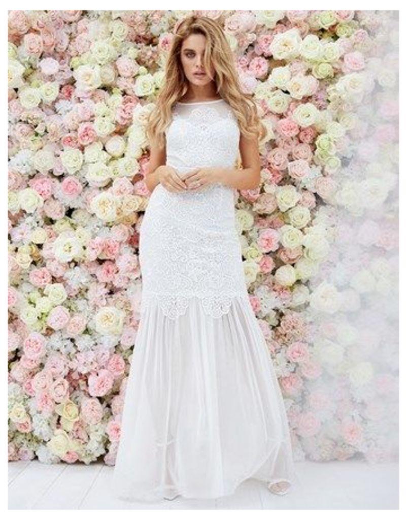 Lipsy Bridal Ella Sheer Skirt Maxi Dress