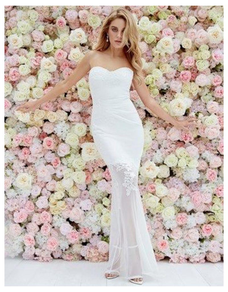 Lipsy Bridal Lydia Bandeau Embroidery Maxi Dress