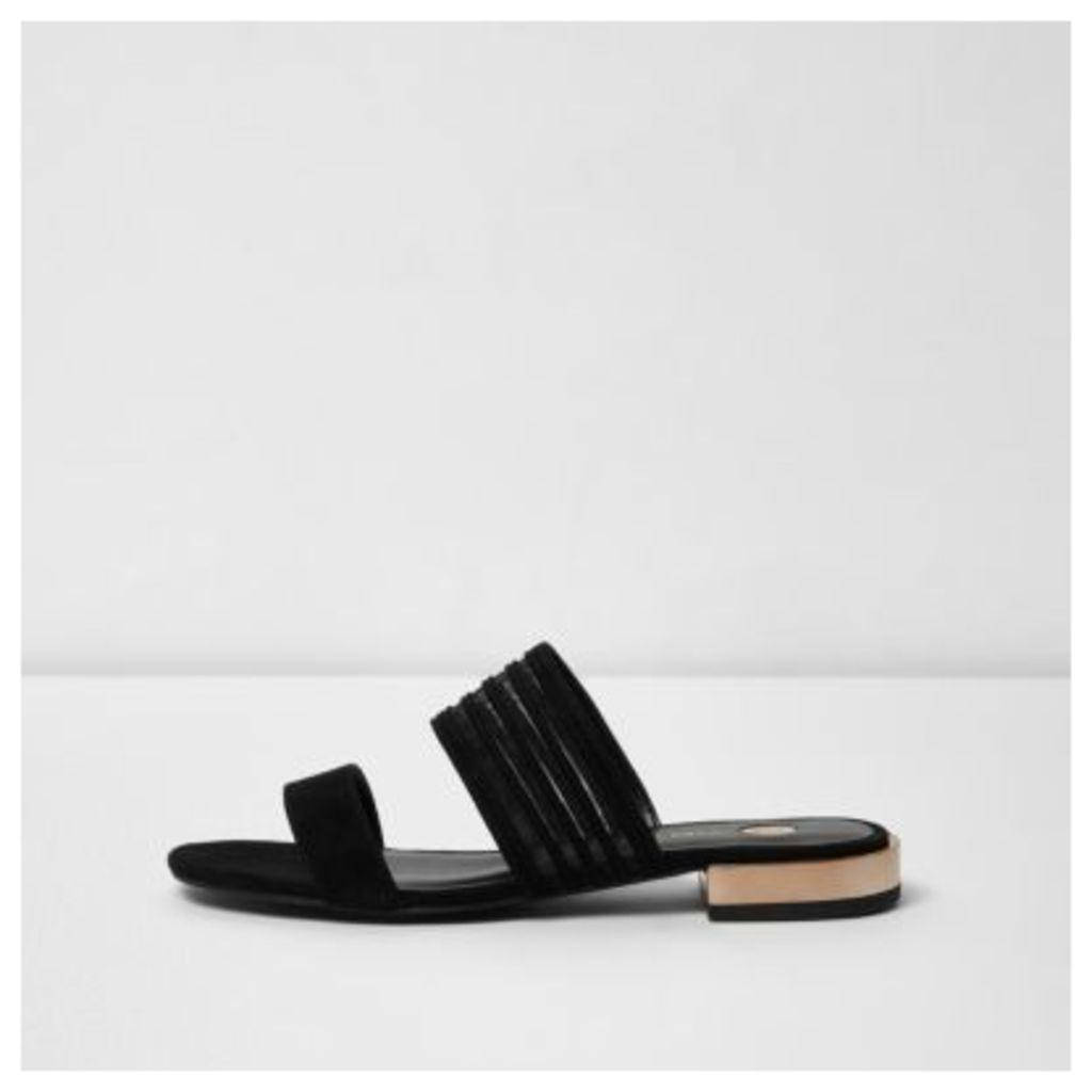 River Island Womens Black double strap sandal
