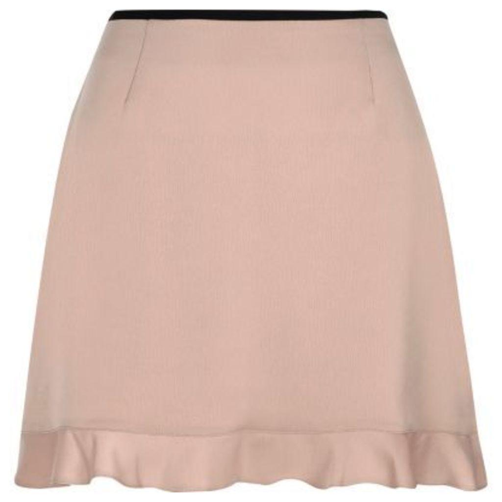 River Island Womens Petite light Pink frill hem mini skirt