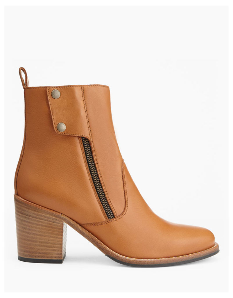 Belstaff Dursley Heeled Boots Tan