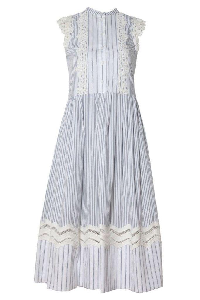 Striped Combo Lace Dress
