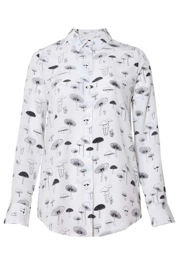 Essential Silk Shirt Bright White