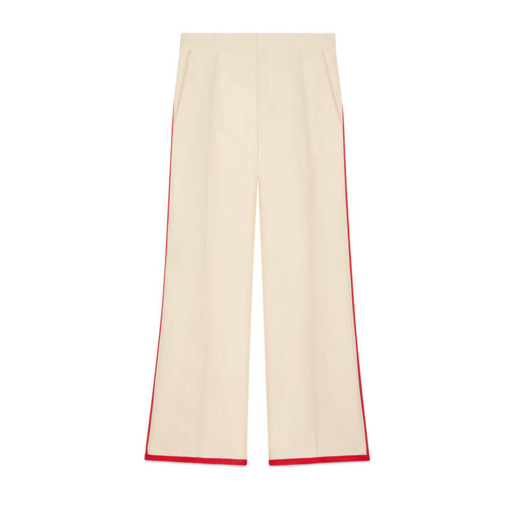 Wool-silk flare pant
