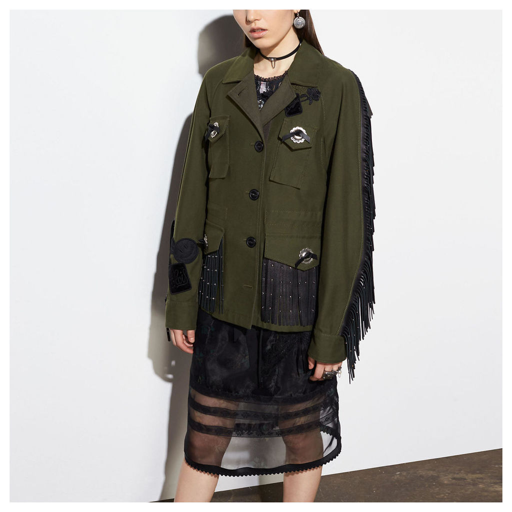 Coach Western Military Jacket With Pockets