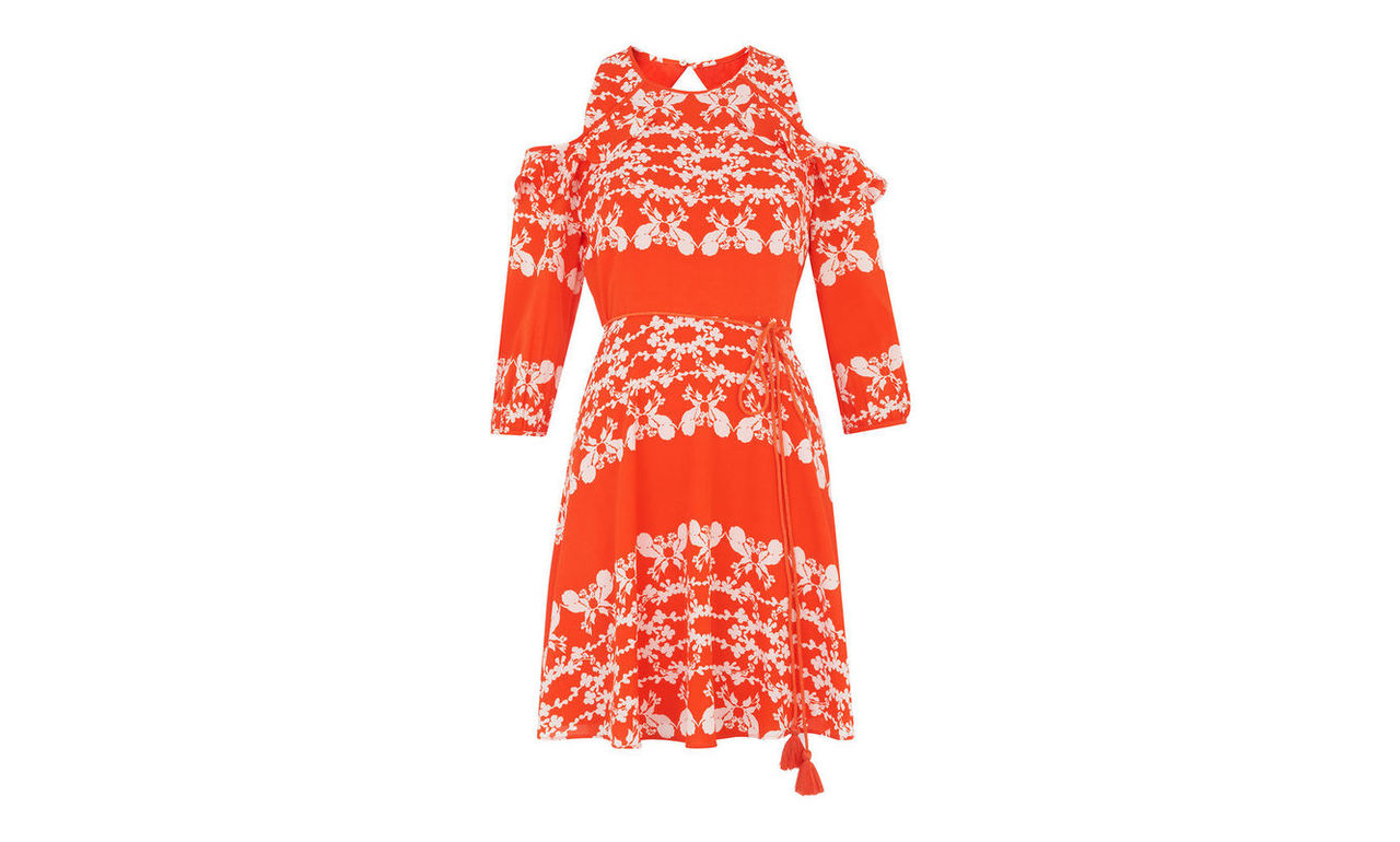 Aldora Trailing Floral Dress