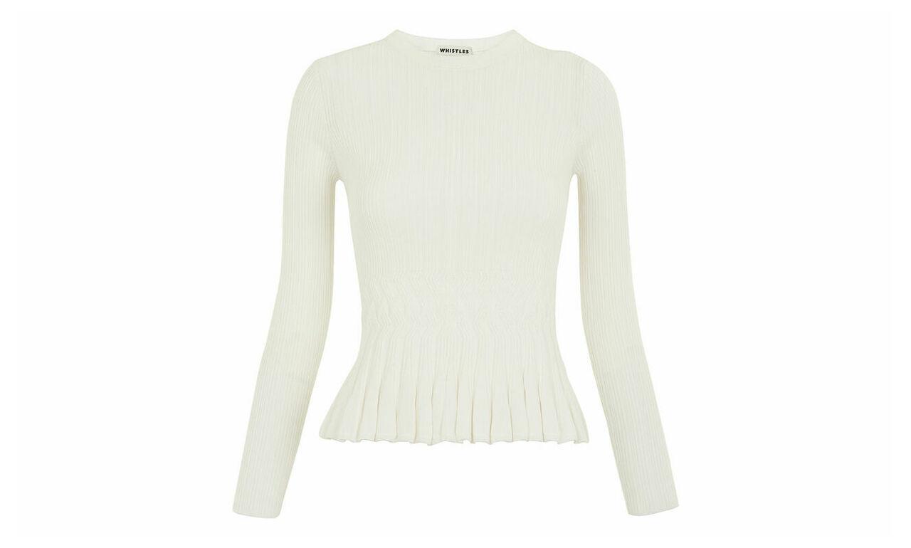Pleat Peplum Sweater
