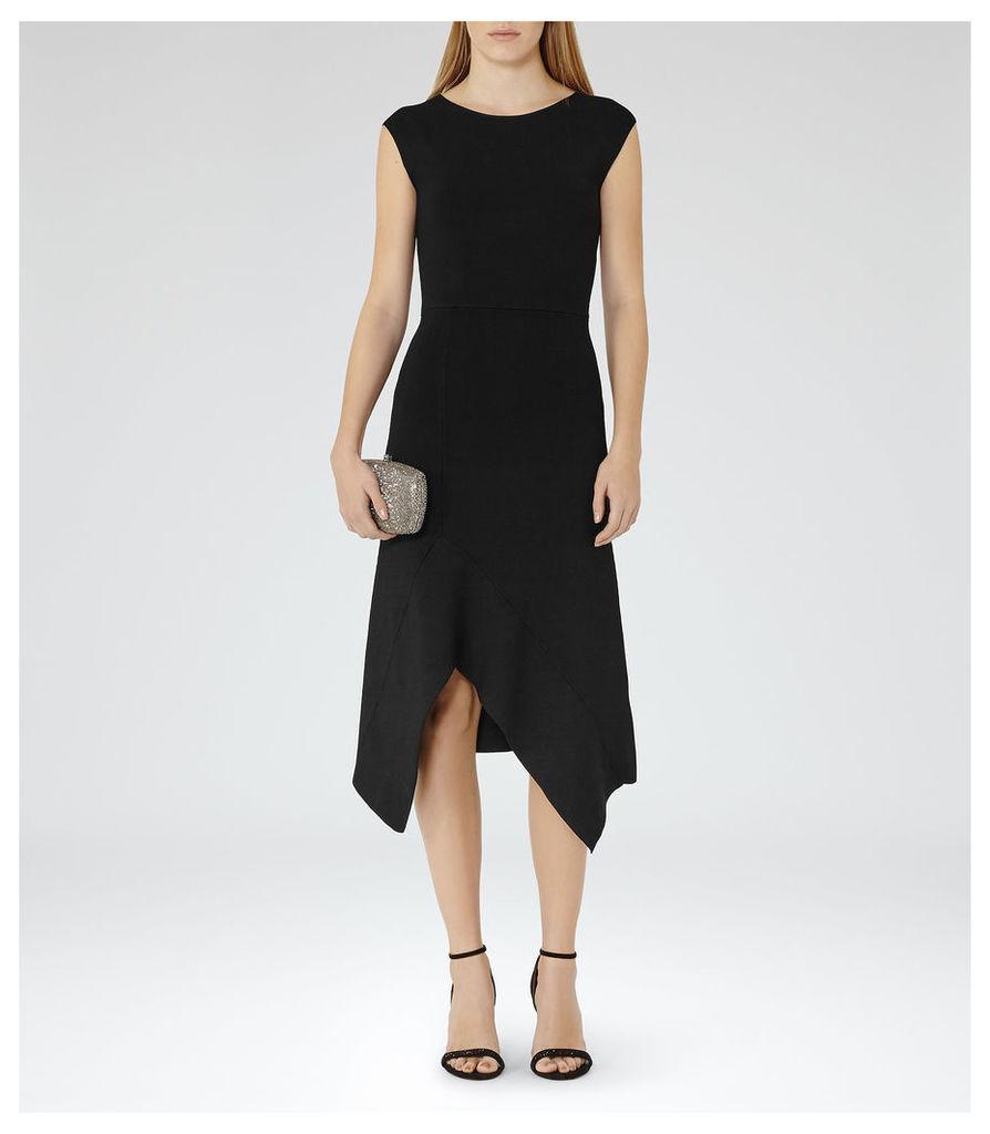 REISS Rachel - Womens Bodycon Midi Dress in Black