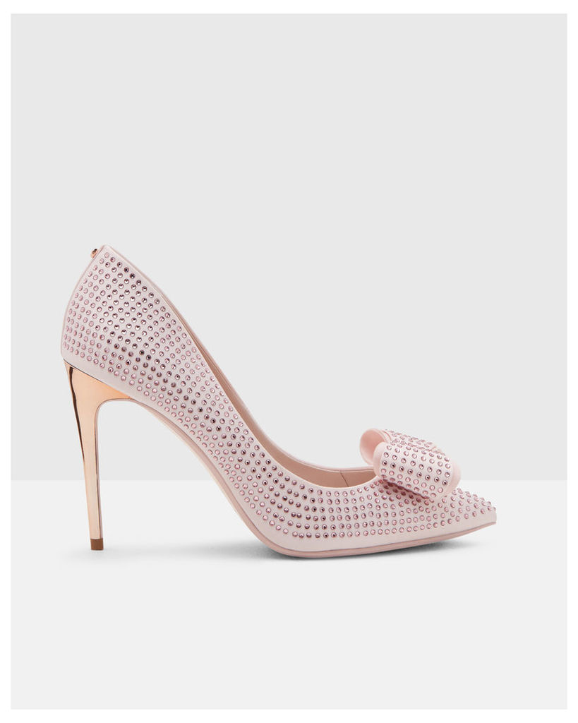 Ted Baker Studded bow pointed courts Light Pink