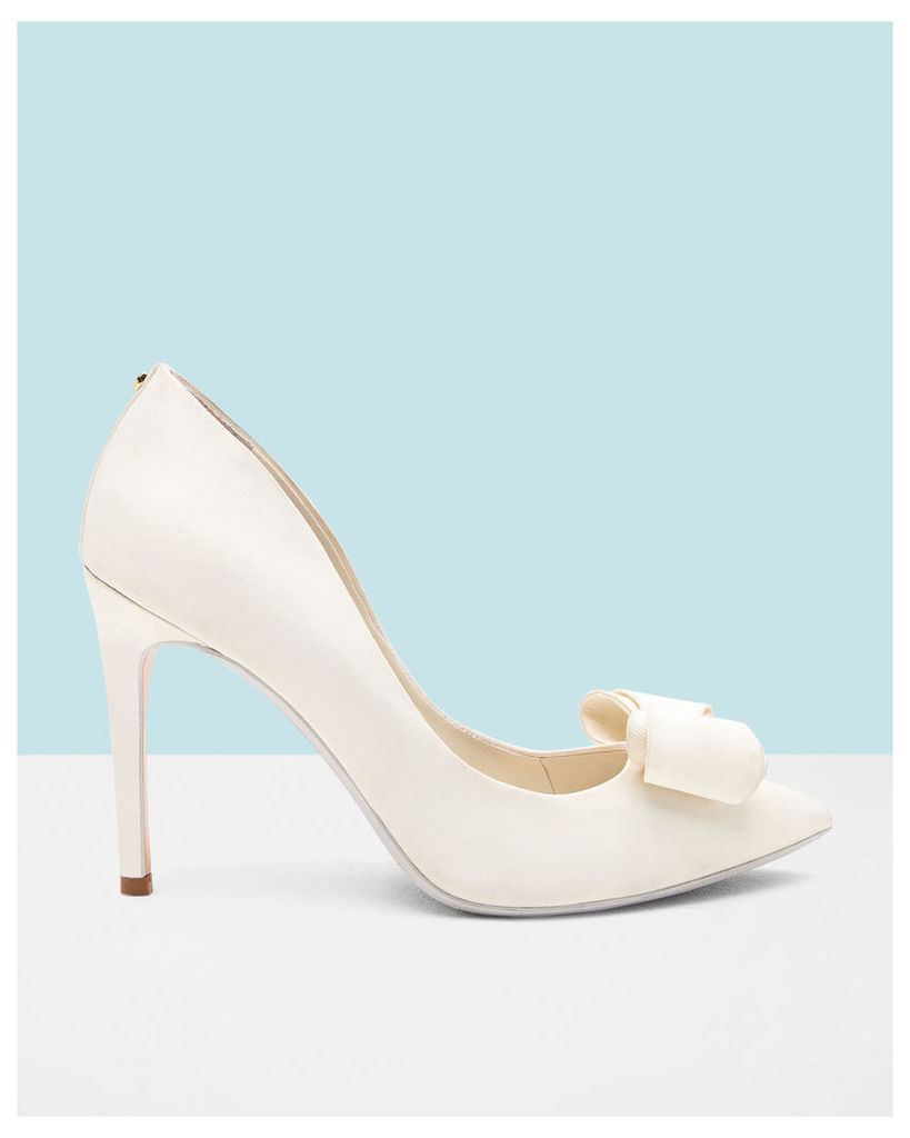 Ted Baker Bow detail satin courts Ivory