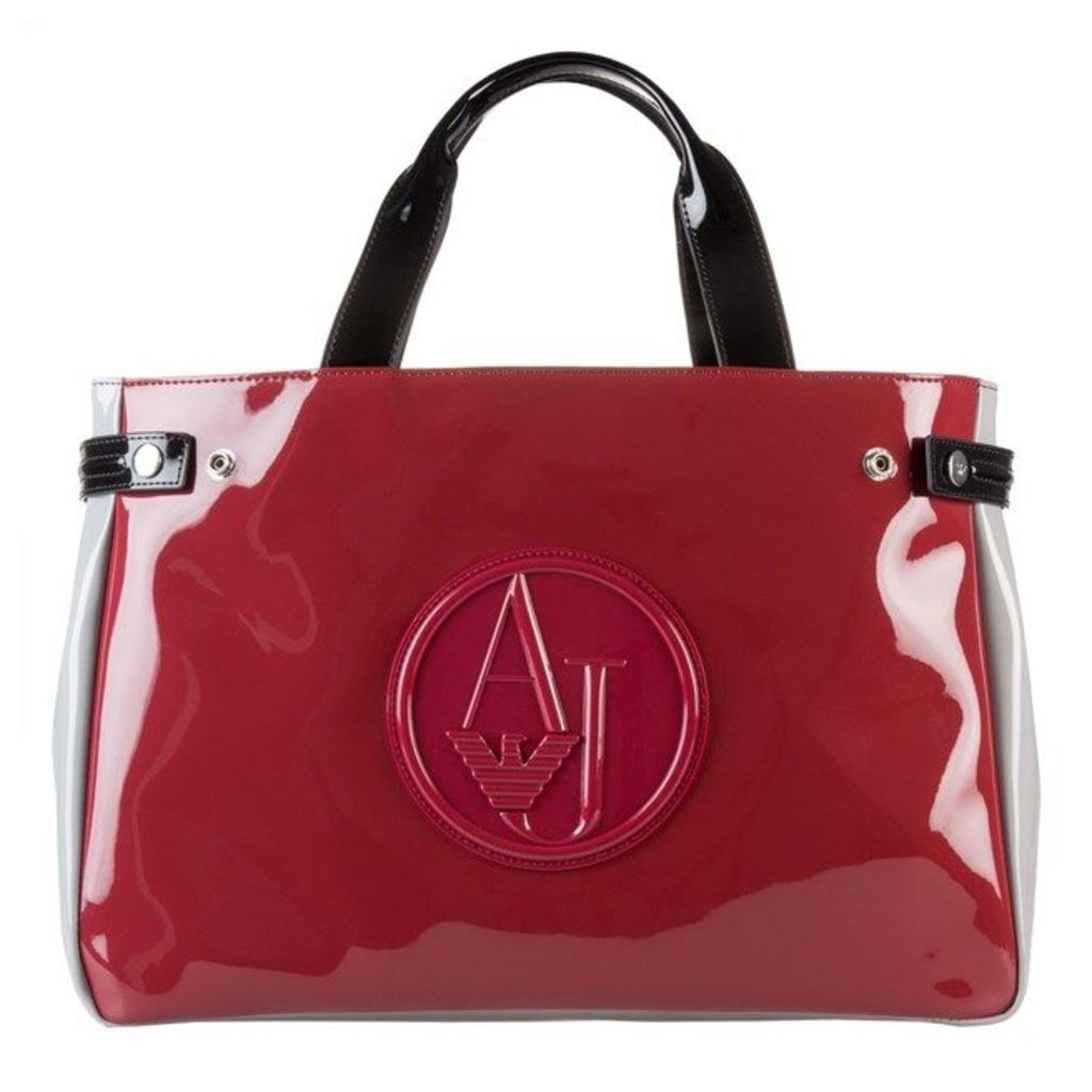 Armani Jeans Logo Patent, Red/Putty