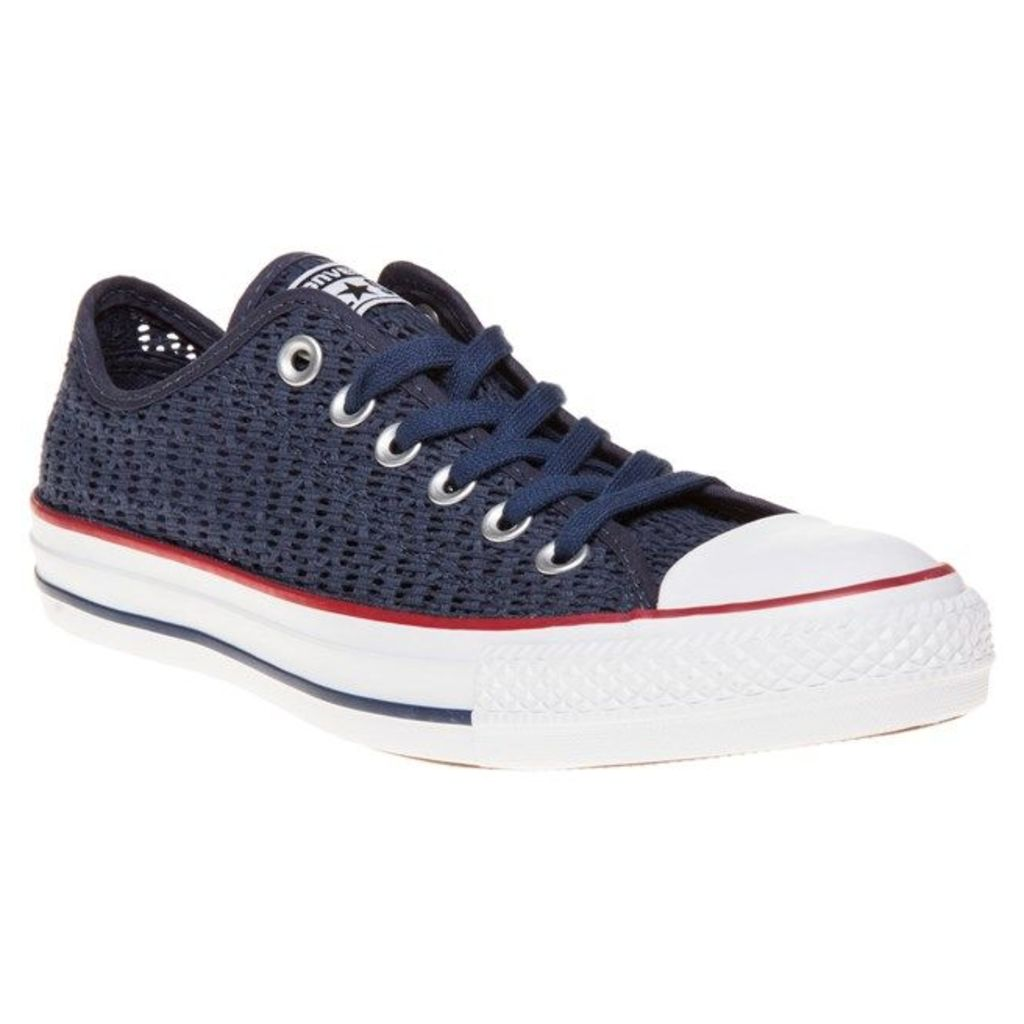 Converse All Star Ox Trainers, Navy/White