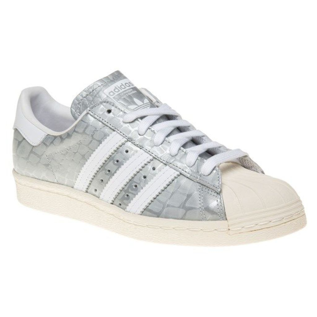 adidas Superstar 80's Trainers, Metallic Silver/White
