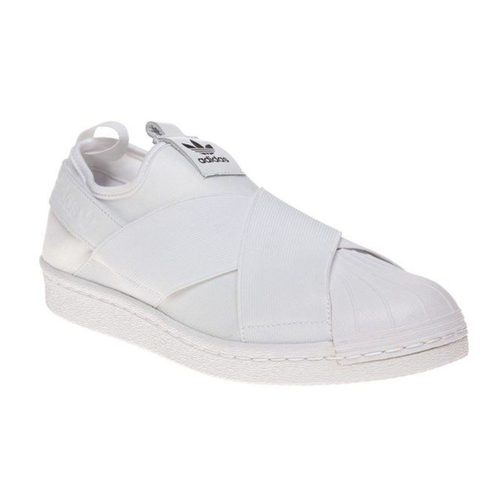 adidas Superstar Slip On Trainers, White/White/Core Black