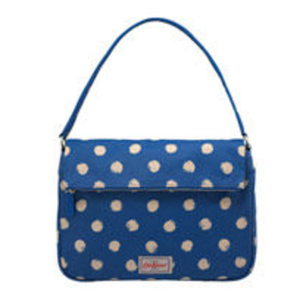 Smudge Spot Folded Top Handbag
